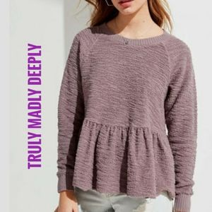 Truly Madly Deeply pullover babydoll Peplum Top